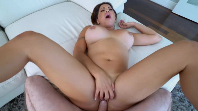 Maid Julianna Vega titfucks & rides her boss' cock