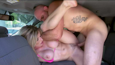 Cory Chase sucking on cock & getting fucked in public