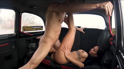 Canela Skin get her tits jizzed after a backseat fuck