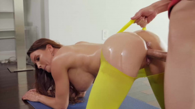 Diamond titfucked and covered in warm load