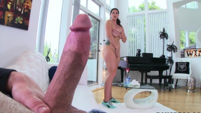 Maid Alison Tyler gets her pussy & mouth stuffed for extra money