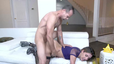 Sophie Grace sucked Filthys cock and allowed him entry into her tight but used pussy