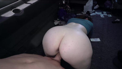 Amazing ginger Annabel Redd getting into the naughty things in the car