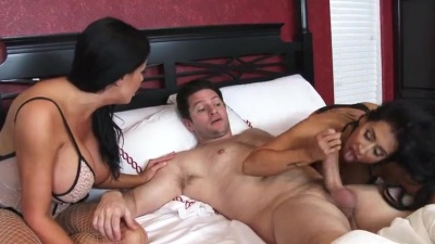 Sybil Stallone & Valerie Kay bouncing their big asses on a lucky dick
