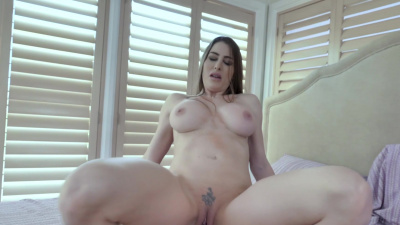 Stacked milf Brianna Rose teaches her stepson how to fuck POV
