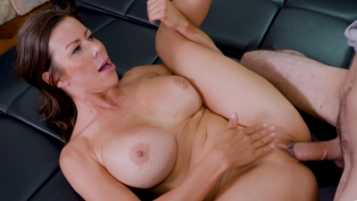 Gorgeous milf Alexis Fawx milks her stepson until there's no more cum