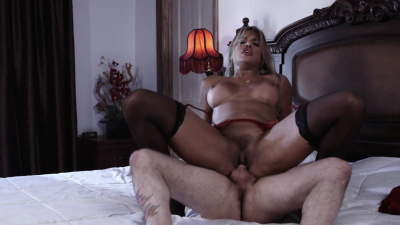 Tanned girl Mercedes Carrera takes sticky load on her perfect tits