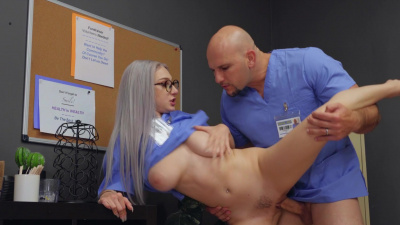 All-natural nurse Skylar Vox passionate sex session