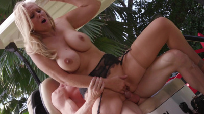 Busty cougar Julia Ann having fun with her young lover