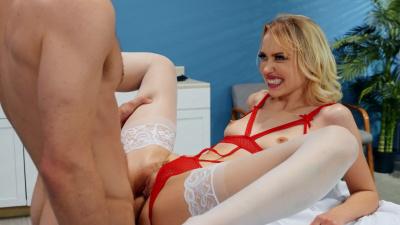 Nurse Chloe Cherry milks a load for the sperm bank