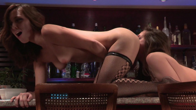 Cassidy Klein and Jenna Sativa make out at the bar