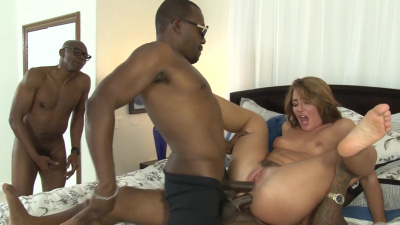 Beautiful Savannah Fox takes as many black dicks as she can