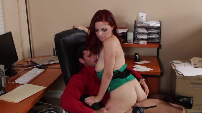 Redhead hottie Penny Pax releases some stress after losing her job
