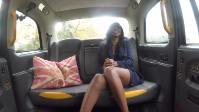 Ebony cutie Asia Rae has dirty sex in the backseat of a taxi