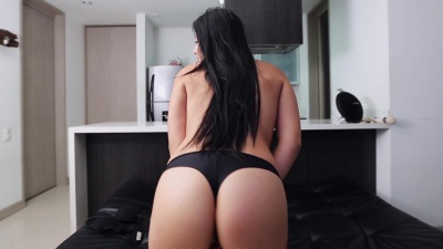 Amateur Sara Garcia squirts while sucks dick then takes it raw in her pussy