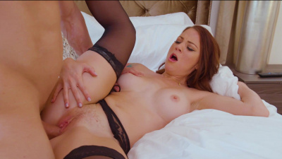 Audrey Miles pays her landlord with wet mouth and great pussy