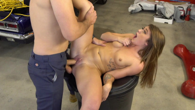 Poor girl Riley Shea strikes a deal with pervy mechanic