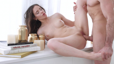 Mickey Moor gives a nice blowjob before passionate sex