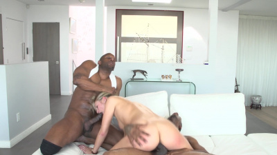 Black studs tag-teamed that perfect pink tight pussy of Scarlet Red
