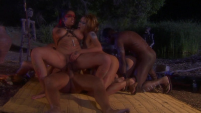 Amazonians have primal orgy in the woods