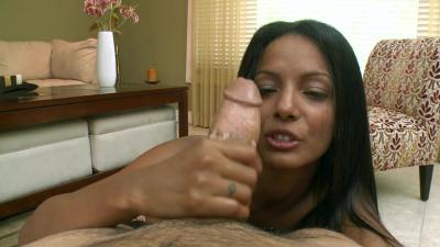 Adriana Milano tugging girthy cock
