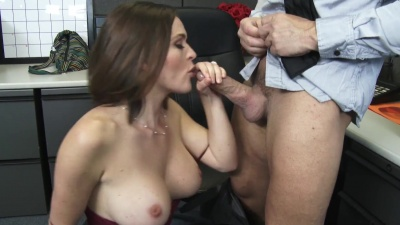 Krissy Lynn get face and pussy fucked by laid off coworker in the office