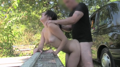 Liz Rainbow gets pussy pounded & slurps a cumshot for a free ride